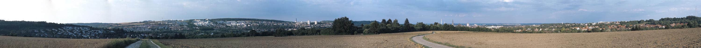 Blick vom Kuhberg auf Ulm