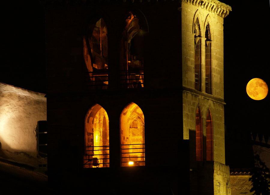 Blick vom Kunstmuseum Es Baluard bei Vollmond