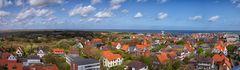 Blick vom Leuchtturm auf das Dorf Wangerooge