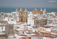 Blick vom Mirador Travira auf Cadiz