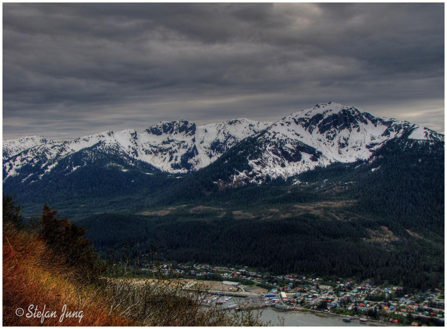 Blick vom Mt.Roberts auf Juneau, Alaska