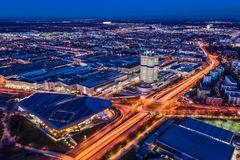 Blick vom Olympiaturm, München