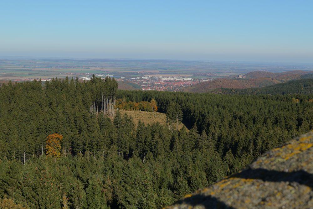 Blick vom Ottofelsen auf Wernigerode