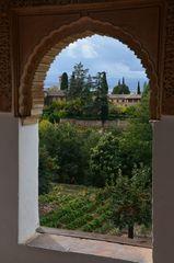 Blick vom Palacio auf die Alhambra