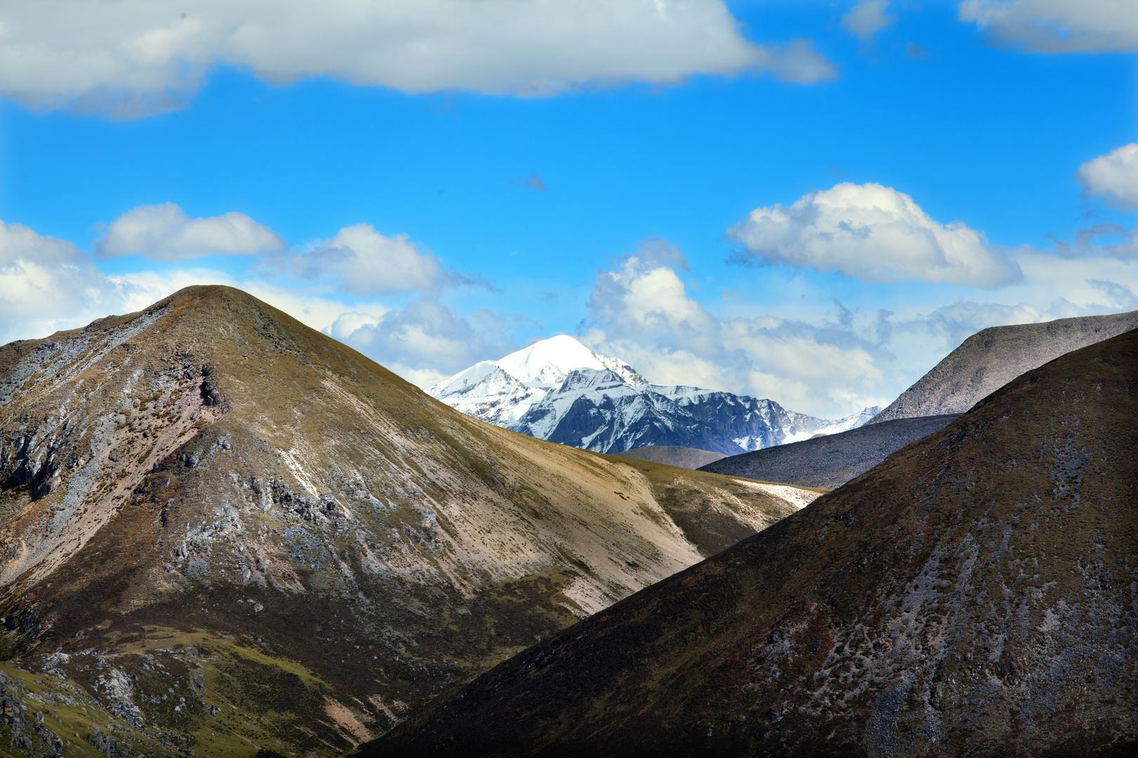 Blick vom Pass zwischen Lhasa und Nyingchi