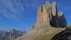 Blick vom Paternsattel zu der Cadinigruppe und den drei Zinnen...
