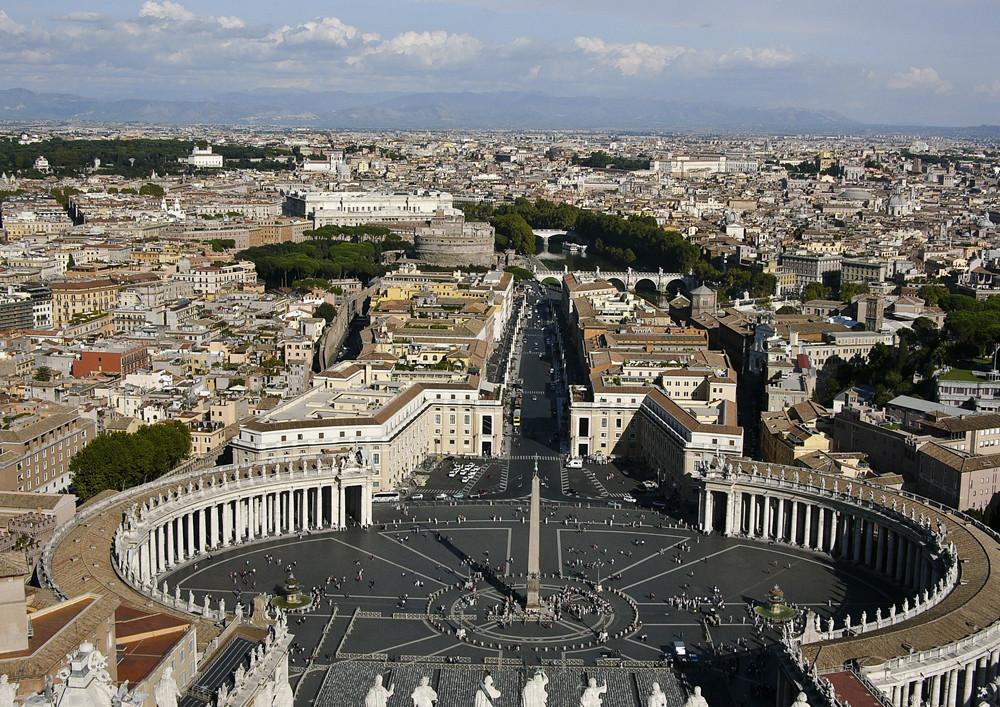 Blick vom Petersdom in Rom