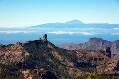 Blick vom Pico de las Nieves hinüber zum Teide
