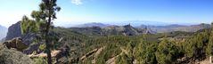 Blick vom Pico de las Nieves hinüber zum Teide (Panorama)