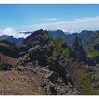 Blick vom Pico do Arieiro ...