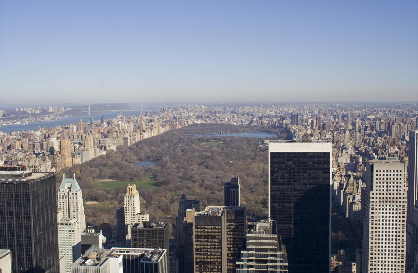 Blick vom Rockefeller Center am Morgen