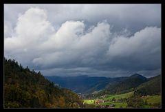Blick vom Schloss Hornberg