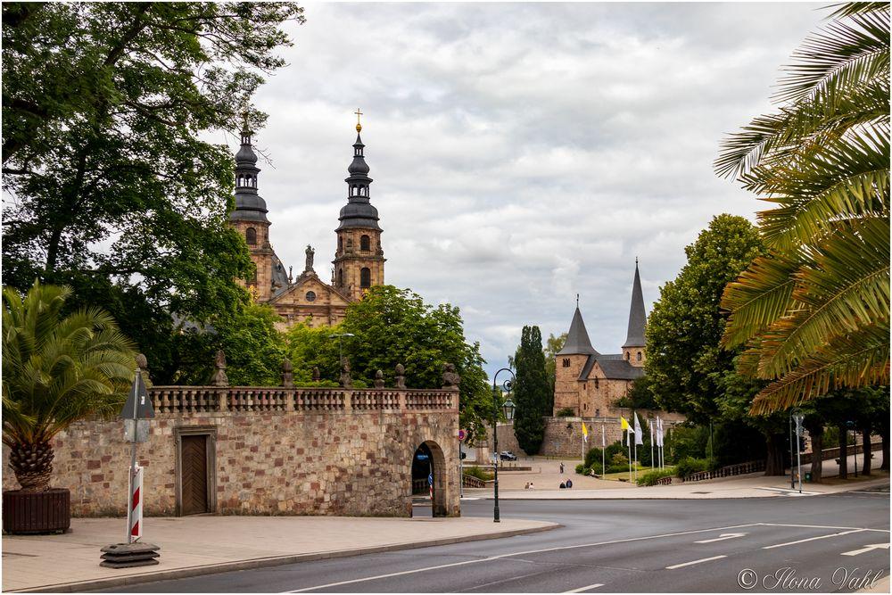 Blick vom Schloss zum Dom