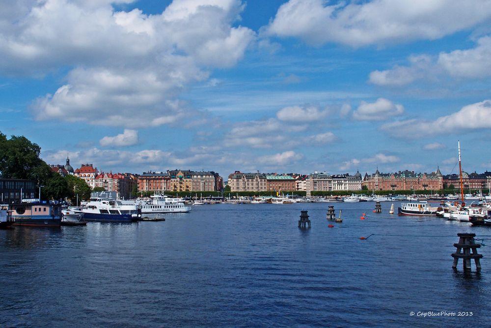 Blick vom Skeppsholmen Brücke nach Normalm