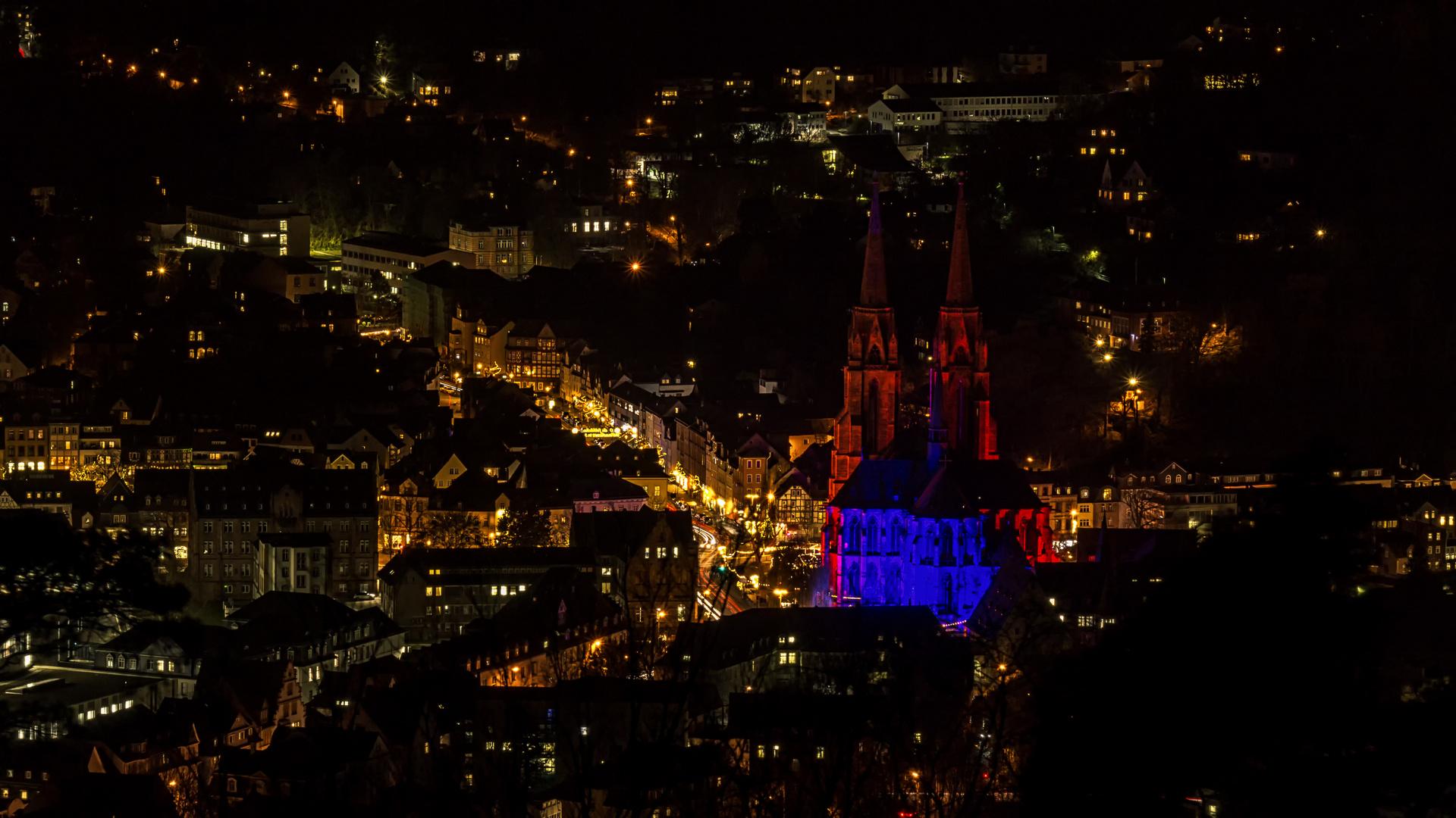 Blick vom Spiegelslustturm auf die Elisabethkirche