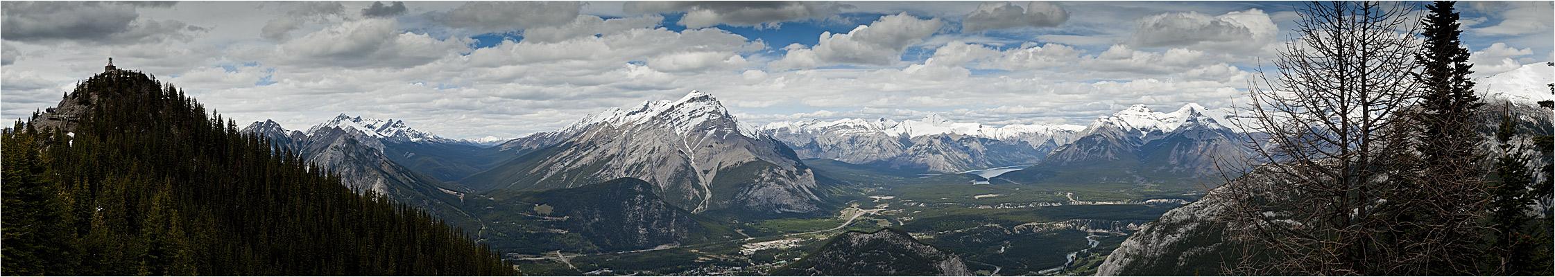 Blick vom Sulphur Mountain