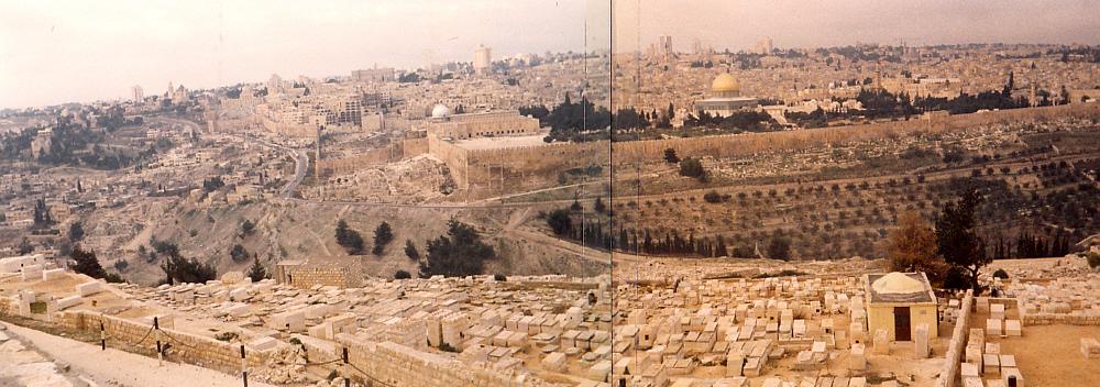 Blick vom Tempelberg auf Jerusalem 1984