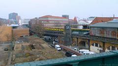 Blick vom U-Bahnhof Gleisdreieck