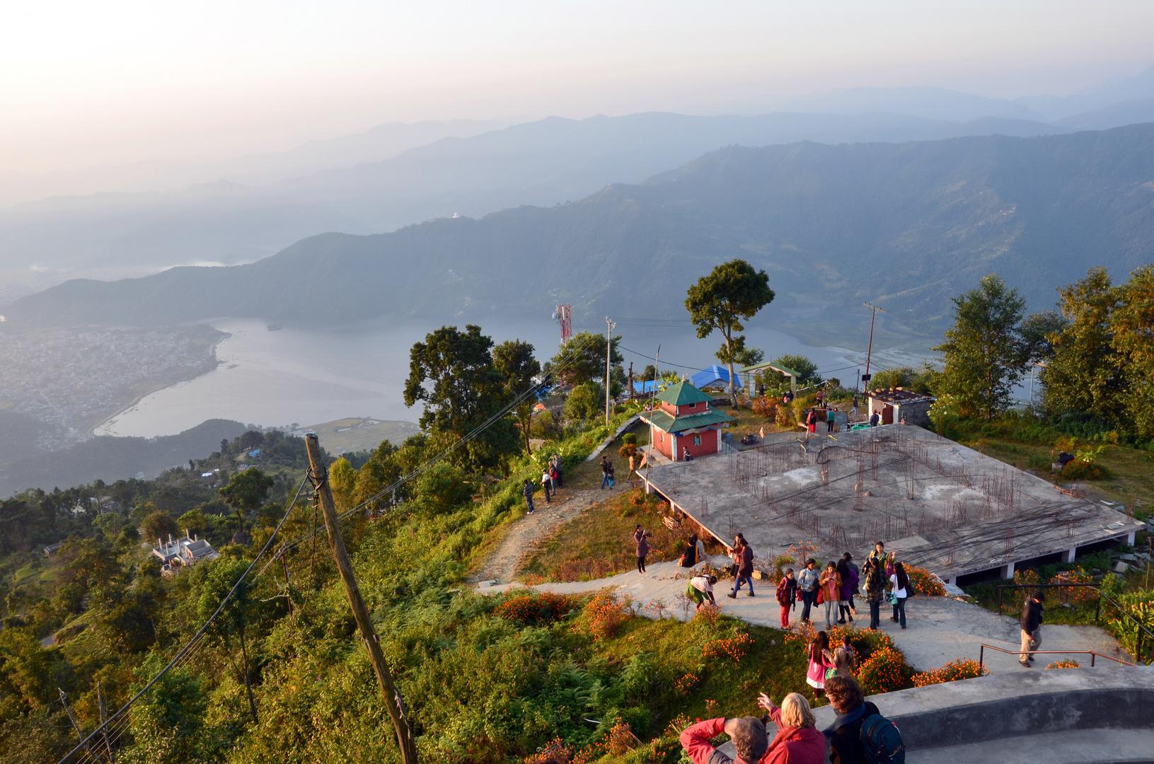 Blick vom View Point in Sarangkot
