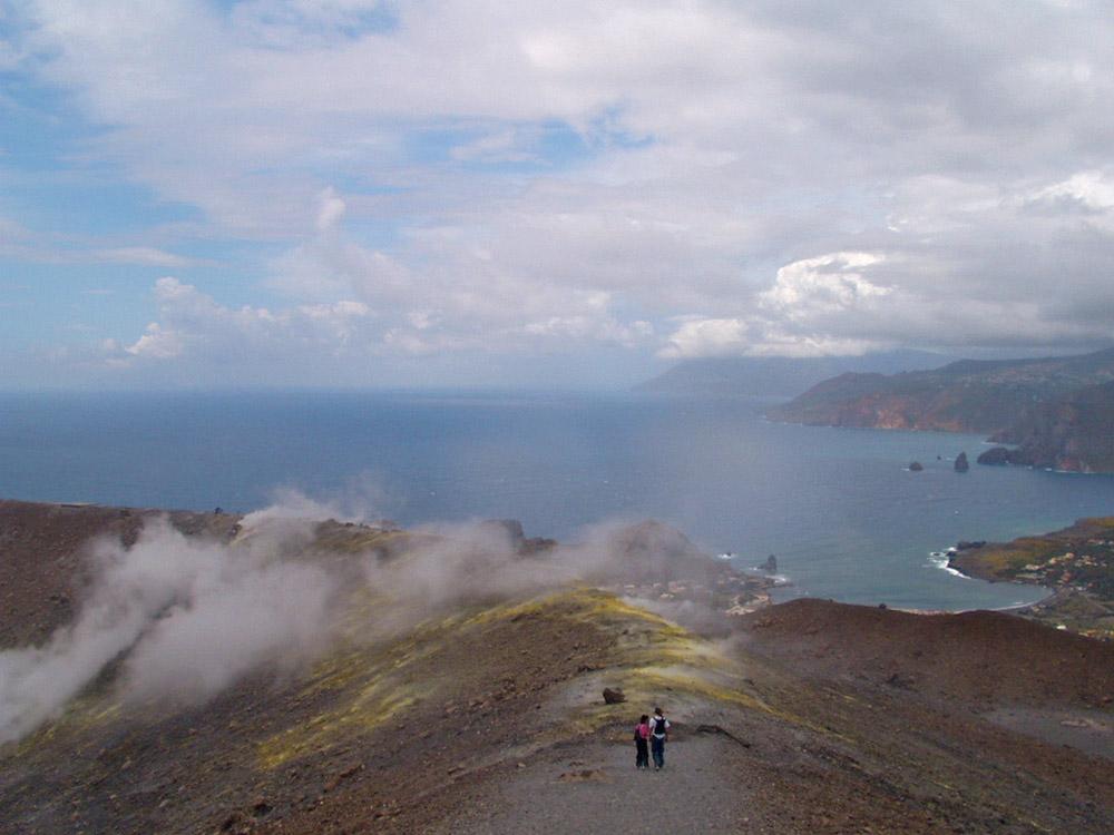 Blick vom Vulkano