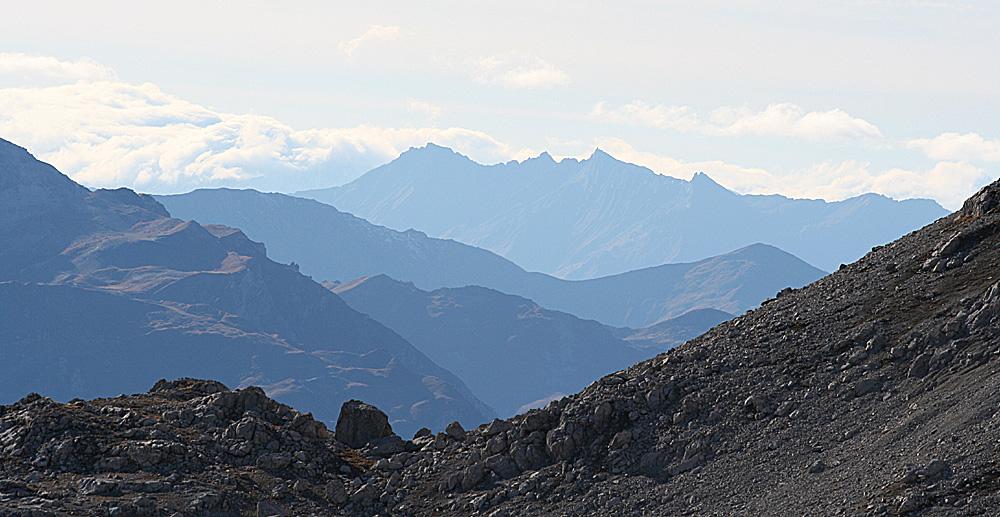 Blick vom Weissfluhjoch