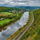 Blick vom Weser Skywalk und den Hannoverschen Klippen