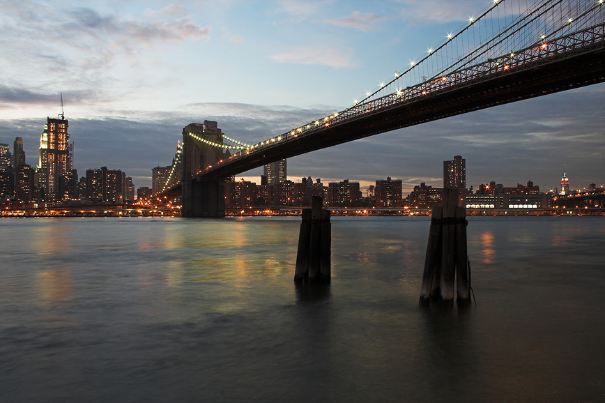Blick von Brooklyn nach Manhattan