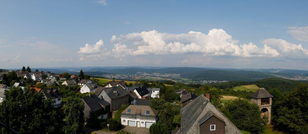 Blick von Burg Greifenstein