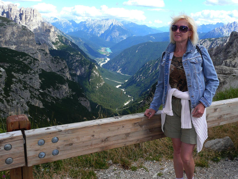 Blick von der Auronzo-Hütte an den 3 Zinnen, Dolomiten