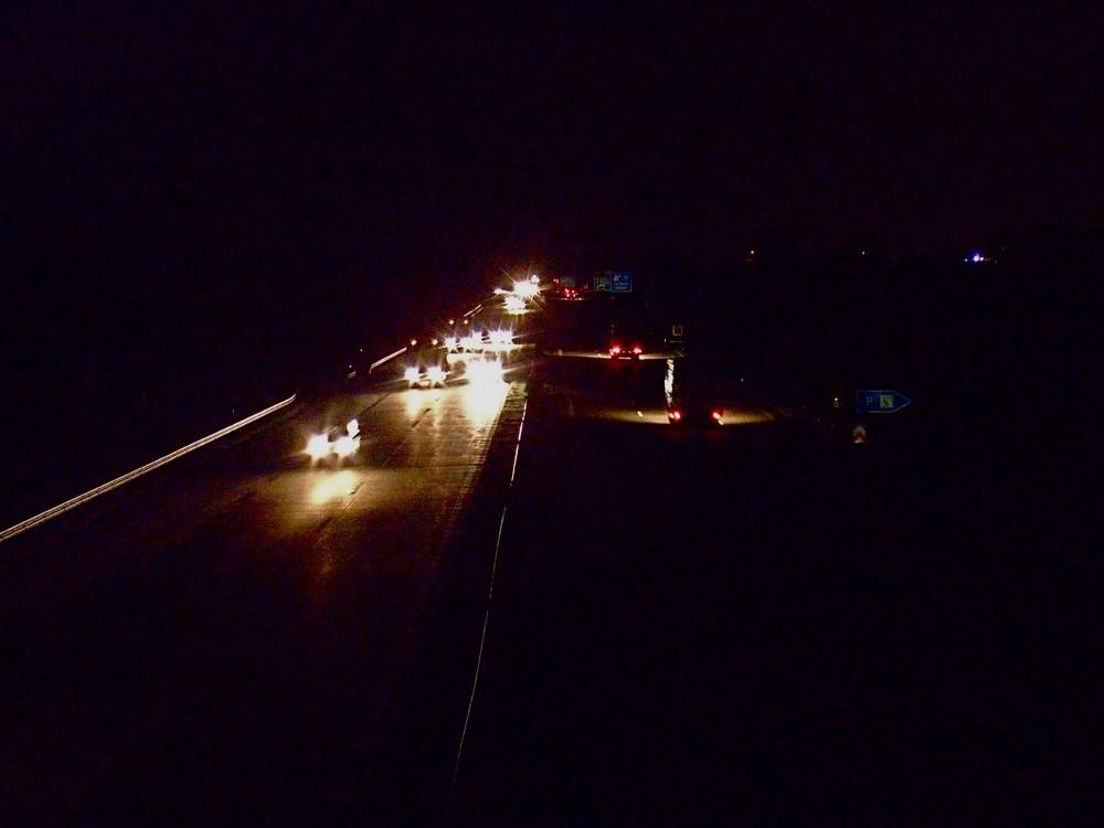 Blick von der Autobahnbrücke***Lange blieb ich nicht, für den frühen Morgen