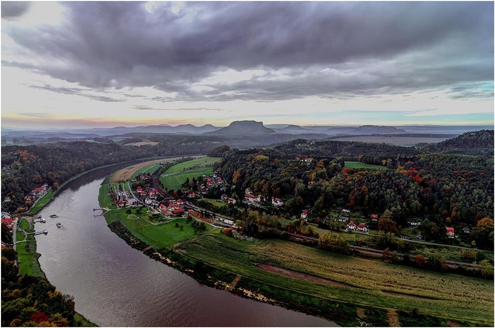 Blick von der Bastei, ...