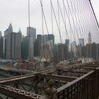 Blick von der Brücke in Brooklyn