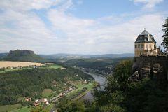 Blick von der Burg Königsstein auf die Elbe