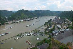 Blick von der Burg Rheinfels.