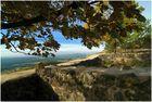 Blick von der Burg Waldeck auf den Rauhen Kulm in der Oberpfalz / Bayern