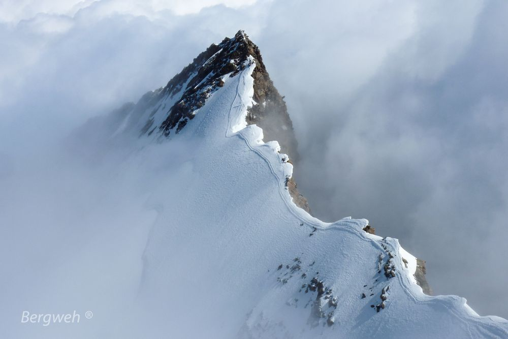 Blick von der Dufourspitze auf das Nordend