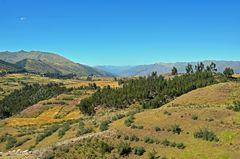 Blick von der einstigen Inka-Festung Puka Pukara