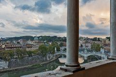 Blick von der Engelsburg auf den Tiber