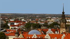 Blick von der Frauenkirche nach Südwesten in Dresden...
