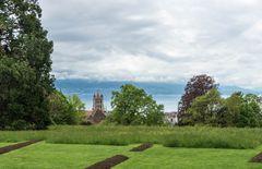 Blick von der Hermitage auf Lausanne