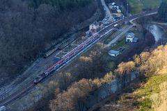 Blick von der Hockslay auf den Haltepunkt Kautenbach