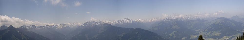 """Blick von der """"Hohen Salve"""" in Tirol"""