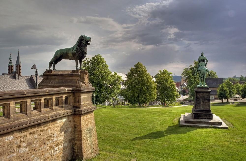 Blick von der Kaiserpfalz aus, auf Goslar