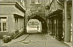 Blick von der Krämerbrücke zum Wenigen Markt