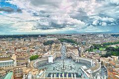 Blick von der Kuppel des Petersdom