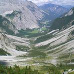 Blick von der Lamsenjochhütte