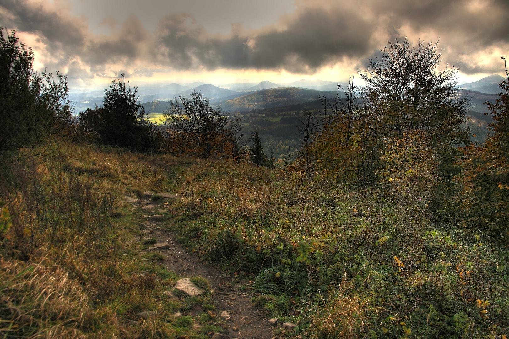 Blick von der Lausche im Zittauer Gebirge