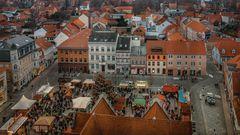 Blick von der Marienkirche
