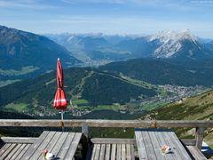 Blick von der Nördlinger Hütte ...