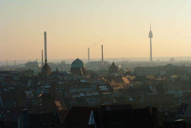 Blick von der Nürnberger Burg über einen Teil der Stadt...